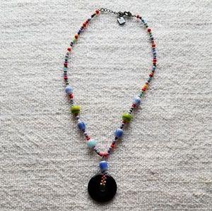 NINE WEST Colorful Pendants Necklace